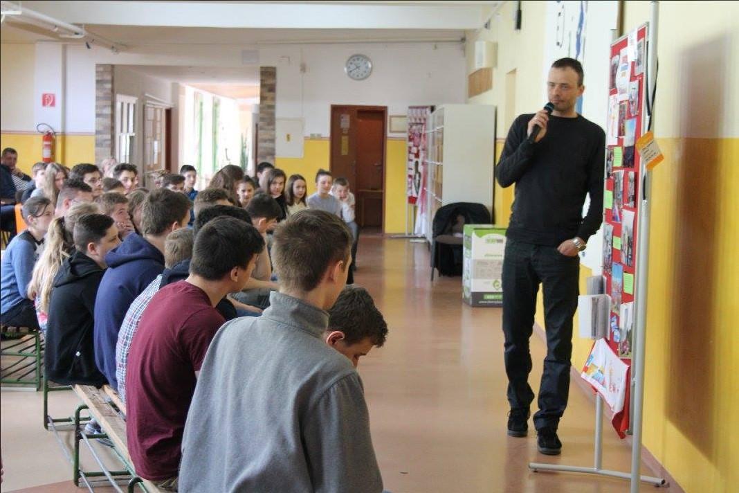 Samuel Bogár - Prednáška v rámci protidrogovej prevencie