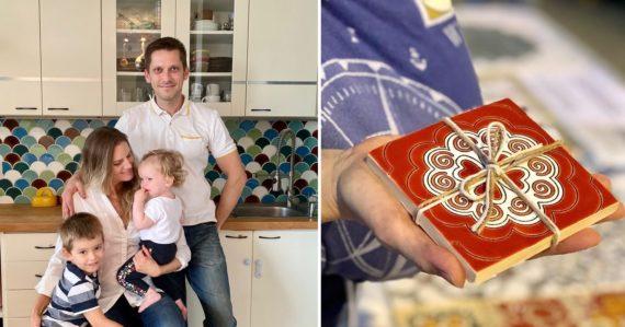 Manželia Martin a Lenka ručne vyrábajú kachličky, o ktoré majú záujem aj vo Veľkej Británii