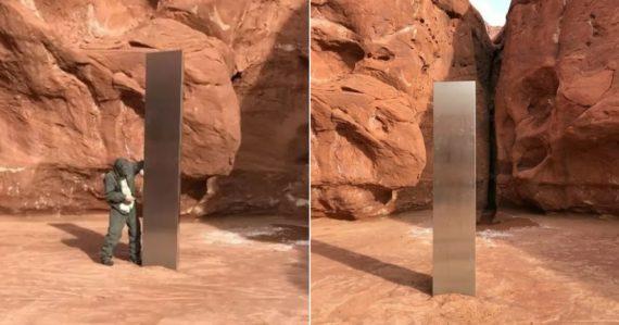 V Utahu objavili záhadný objekt. Je vyrobený z kovu a zasadený do zeme, no nikto zatiaľ netuší, čo to je