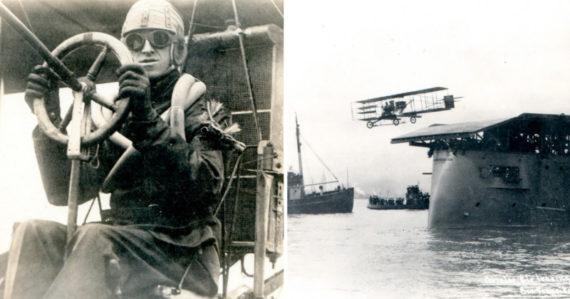 Myslel si, že lietanie je ako šoférovanie a pri prvom lete havaroval. Ako prvý človek však dokázal pristáť na lodi